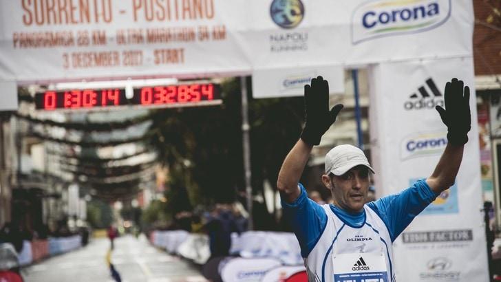Sorrento Positano ultramarathon 54km, nella pioggia trionfa Stefano Velatta