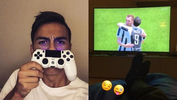 Dybala sceglie la Juventus anche a Fifa. E segna con Mandzukic!