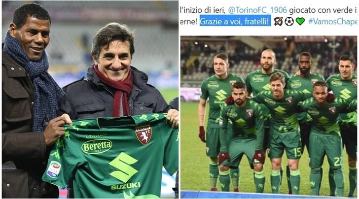 Chapecoense commossa dall'omaggio del Torino:«Grazie fratelli!»