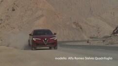 Alfa Romeo Stelvio Quadrifoglio in azione nel deserto