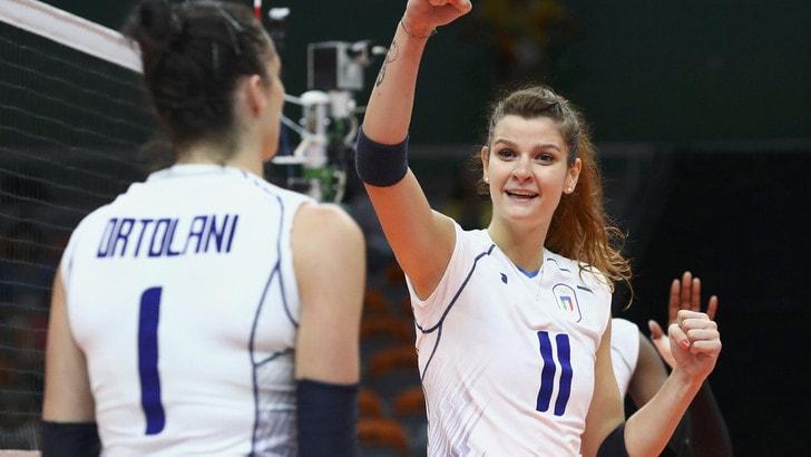 Volley, mondiale femminile: l'Italia a quota da grande