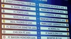 Champions League, i sorteggi: la Juventus pesca il Tottenham