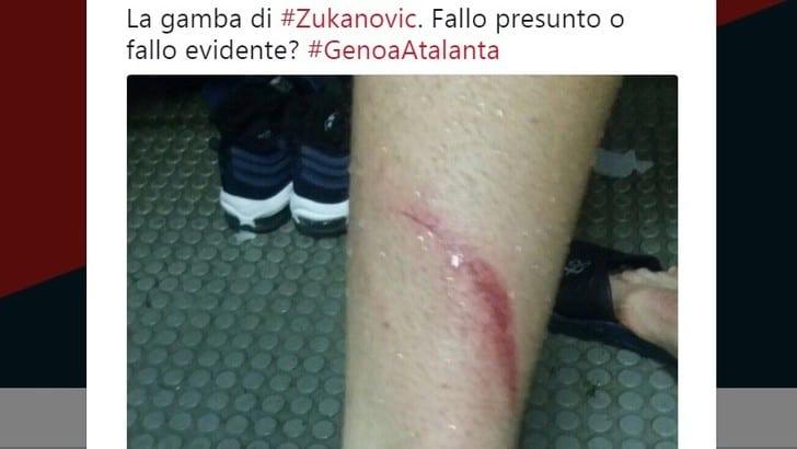Serie A, il Genoa: «Su Zukanovic fallo presunto o evidente?»