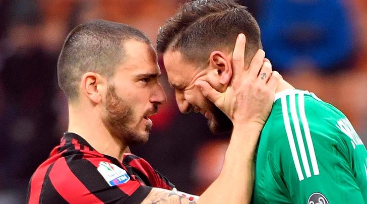 Milan, Donnarumma in lacrime dopo la contestazione: Bonucci lo rincuora