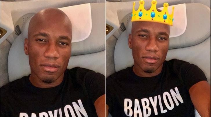 "Sorpresa Drogba, nuovo look e sui social diventa ""The King"""