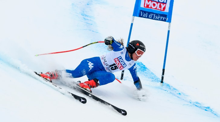 Sci, super G in Val d'Isère: Goggia seconda, vince Vonn