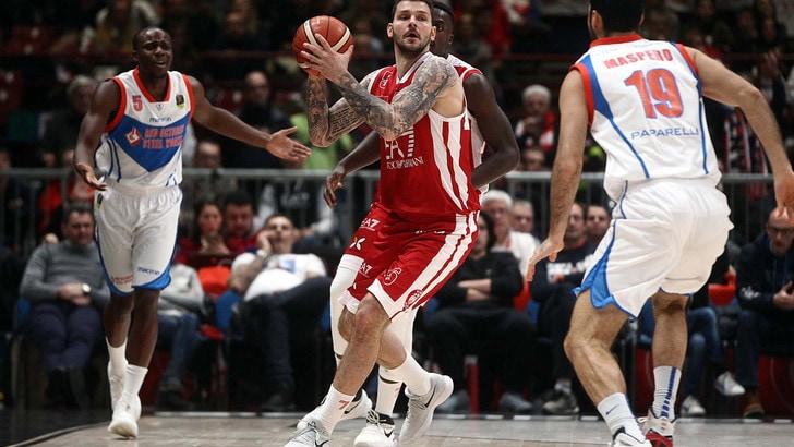 Basket, Eurolega: Milano-Vitoria, vittoria biancorossa a 1,95