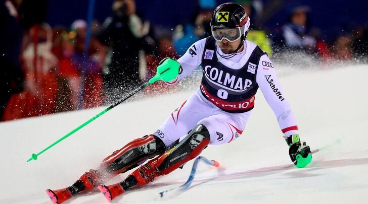 Sci, Hirscher vince anche lo slalom di Campiglio. Moelgg settimo