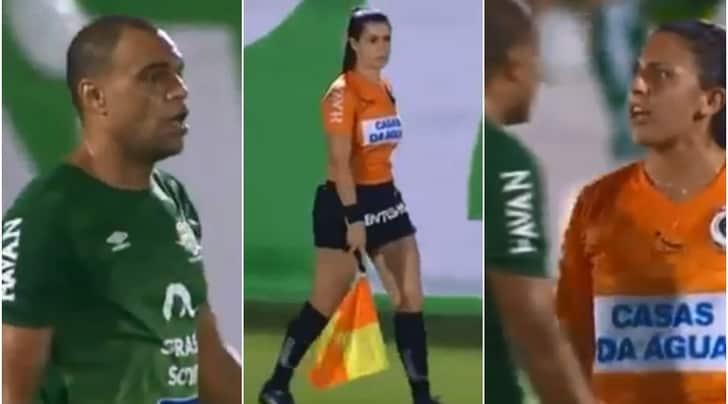 """Brasile, Denilson """"affettuoso"""" con la guardalinee: l'arbitro non gradisce"""