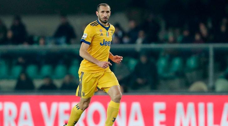 Juventus, Chiellini era l'unico italiano tra i titolari a Verona
