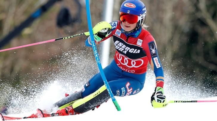 Sci, slalom donne: a Zagabria Shiffrin avanti, le azzurre indietro