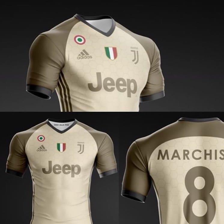"""Sulla pagina Instagram """"Around J"""" sono apparsi disegni del designer juventino Manuel Montaresi che ha immaginato così la maglia della prossima stagione"""