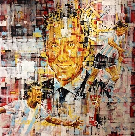 L'artista argentino Andrés Mariani ha dedicato uno straordinario dipinto alla Joya: guardate il risultato. E il bianconero non è l'unico soggetto ritratto...