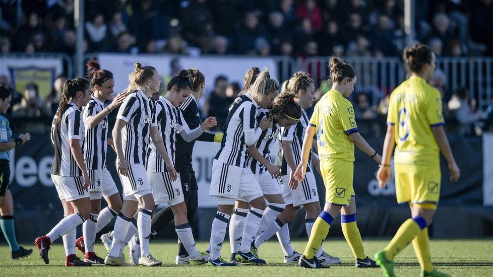 Le ragazze di Rita Guarino travolgono il Fimauto Valpolicella Chievo Verona a Vinovo nel primo match di campionato del nuovo anno:doppiette di Glionna, Zelem e Bonansea