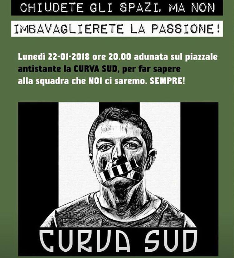 Tifosi della Juve contro la chiusura della Curva Sud: pronta la class action