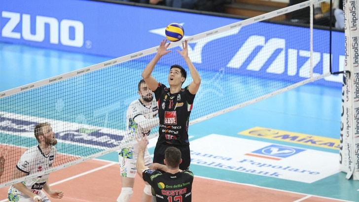 Volley: Superlega, Civitanova espugna Trento, Modena mette ko Verona