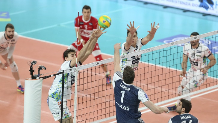Volley: Champions League, Trento si impone 3-0 sull' Arkas Izmir