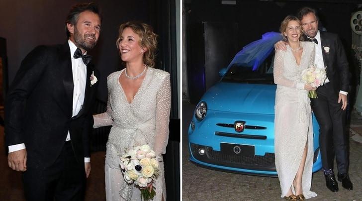 Carlo Cracco si sposa. Lapo Elkann testimone gli regala una 500 Abarth Blu