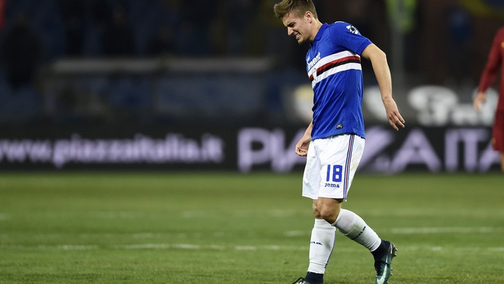 Serie A Sampdoria, lesione muscolare per Praet: niente Roma