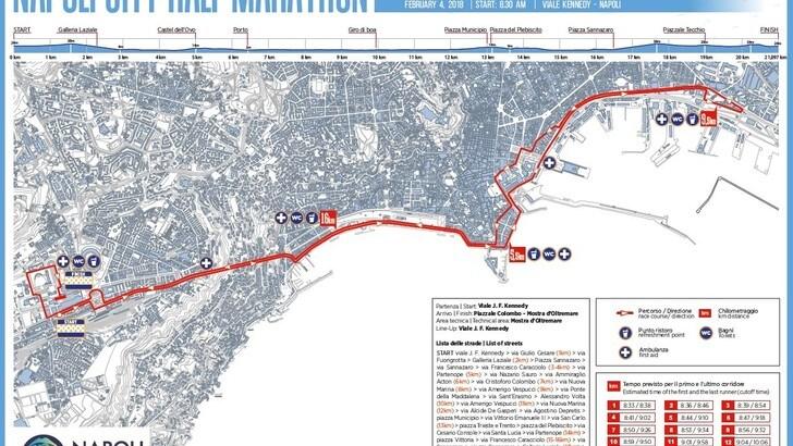 Napoli City Half Marathon, il percorso dei 6mila runner
