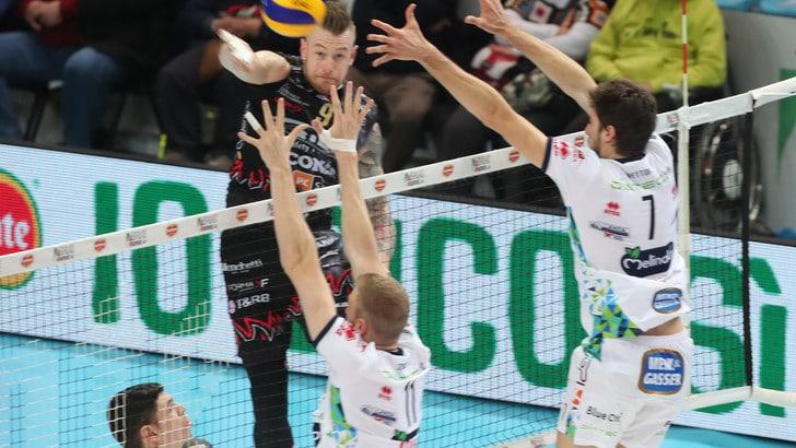 Volley: Coppa Italia, Perugia raggiunge la Lube in finale