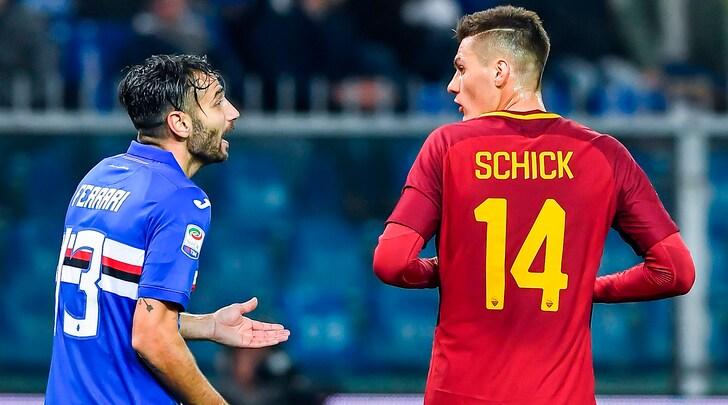 Roma-Sampdoria, problemi per Schick: in dubbio per la sfida di questa sera