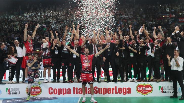Volley: Coppa Italia, Perugia batte la Lube e alza il secondo trofeo della stagione