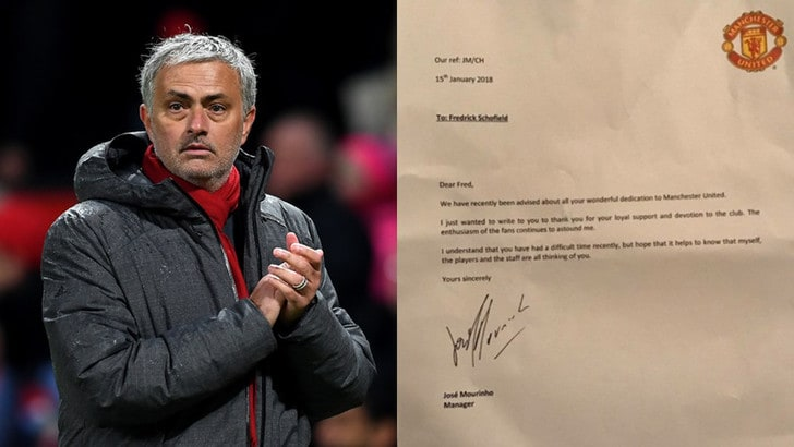 Emozione Mourinho: scrive una lettera a un tifoso di 94 anni