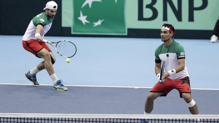 Coppa Davis, Italia-Giappone 2-1: bene nel doppio
