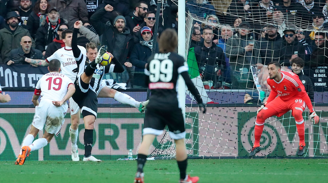 Serie A Udinese-Milan 1-1, il tabellino