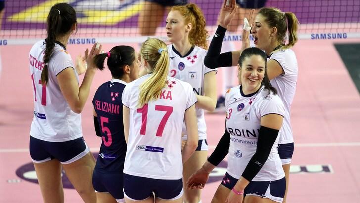 Volley: A1 Femminile, Conegliano batte Busto, vittorie esterne per Modena e Monza