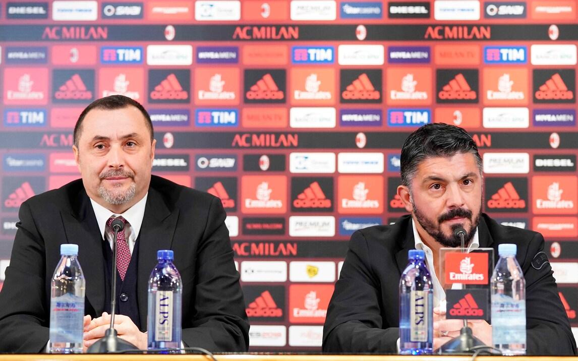 Milan, Mirabelli: «Mi auguro che Gattuso possa restare il nostro allenatore per 10 anni»