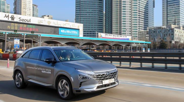 Guida autonoma e idrogeno: test Hyundai in Corea