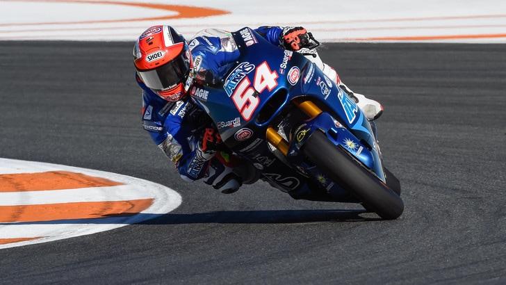 Moto2, Pasini è il più veloce a Valencia