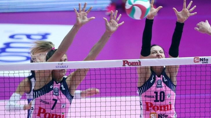Volley: A1 Femminile, domani tre anticipi, duri impegni per Conegliano e Novara