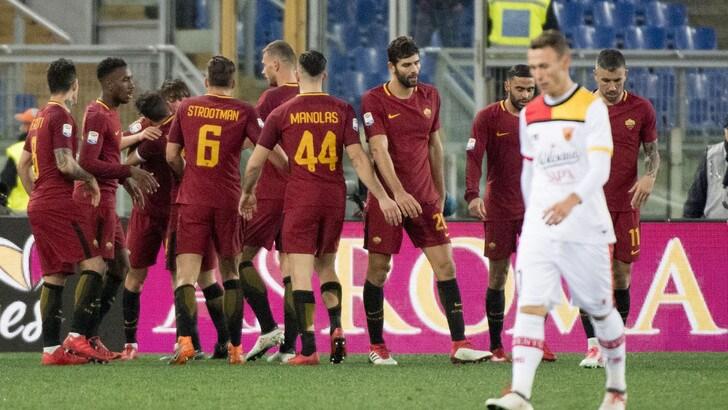 Serie A Roma-Benevento 5-2, il tabellino