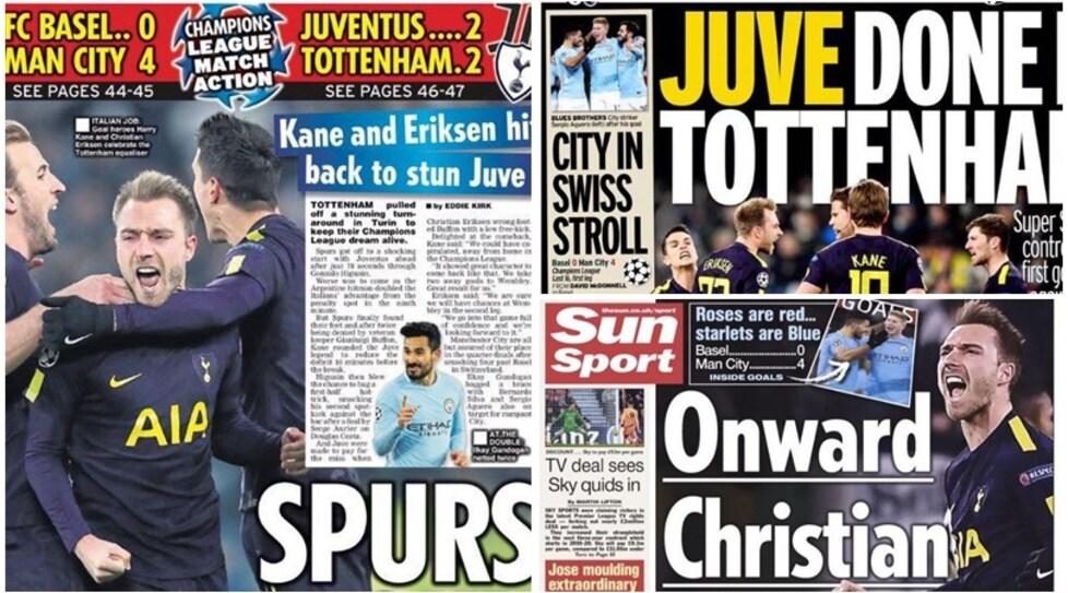 La feroce rimonta degli 'Spurs' a Torino, da 0-2 a 2-2, trova molto spazio anche sui giornali spagnoli:«Cade il muro bianconero. I quarti passano da Wembley»