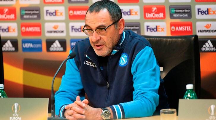 Sarri: «Europa League folle, 60 ore dopo c'è la Spal»