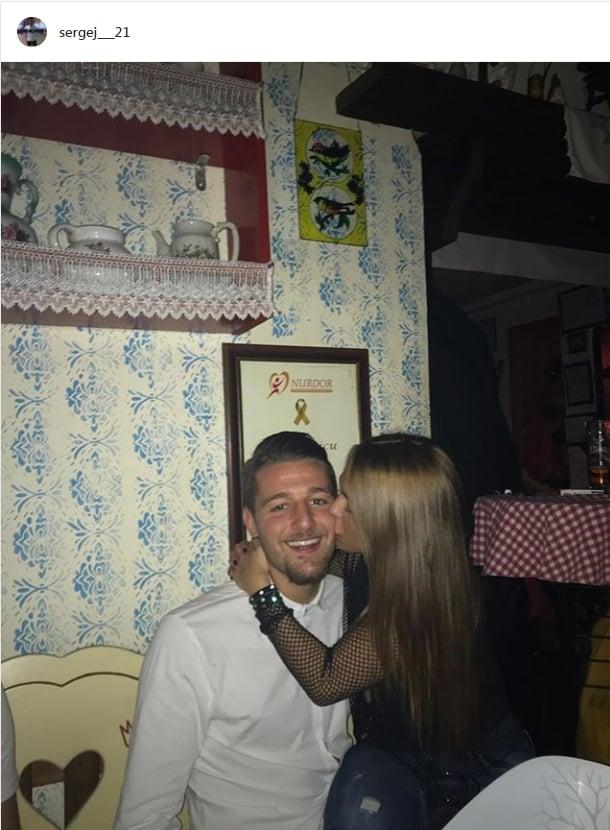 Milinkovic Savic e la sua fidanzata