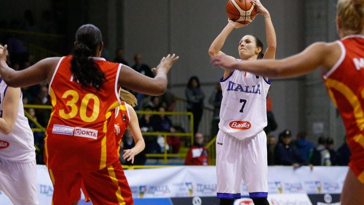 Basket Femminile, l'Italia spazza via la Macedonia