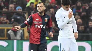 Serie A, Genoa-Inter 2-0: autogol di Ranocchia e acuto di Pandev