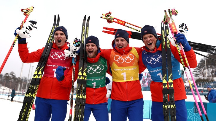 Fondo la staffetta va alla norvegia italia 7 tuttosport for Olimpici scandinavi