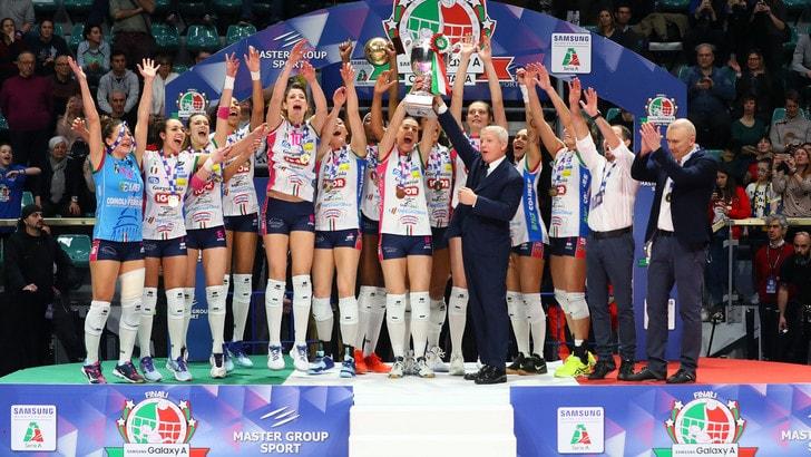Volley: Novara batte ancora Conegliano e brinda in Coppa