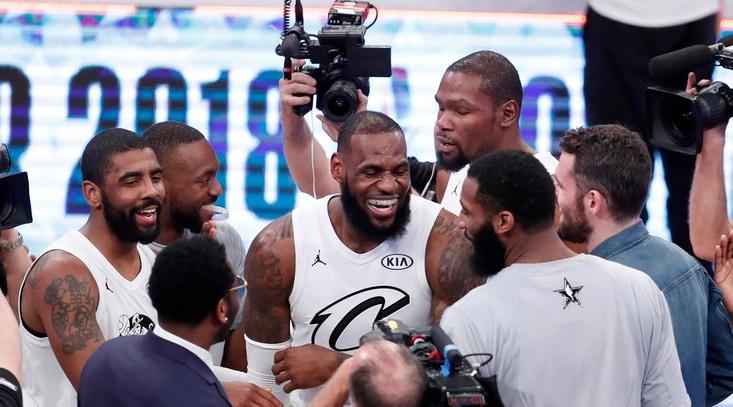 NBA, il Team LeBron trionfa all'All Star Game