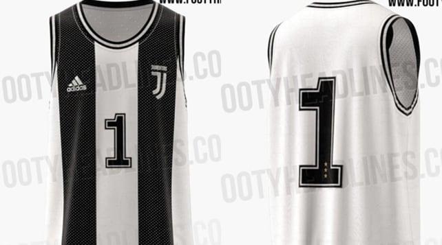 La maglia della Juventus in versione basket