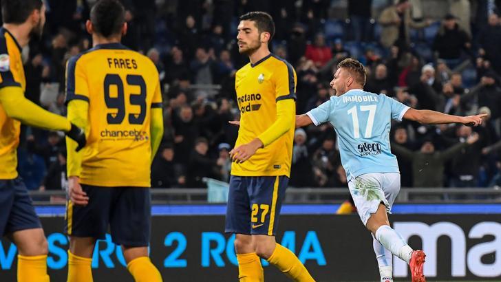 Lazio-Verona 2-0, biancocelesti sono 4/i