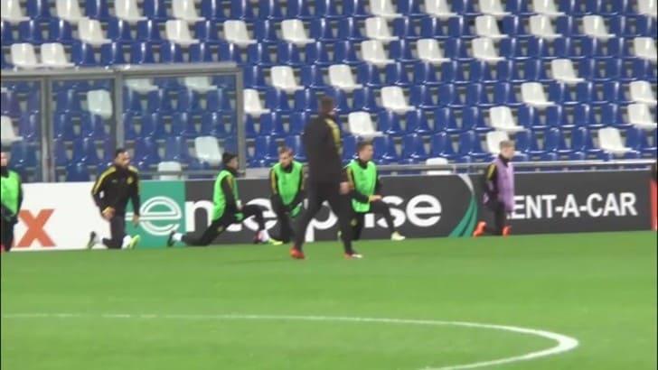 Allenamento Borussia Dortmund prima