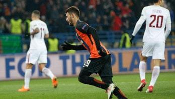 Champions League Shakhtar Donetsk-Roma 2-1, il tabellino