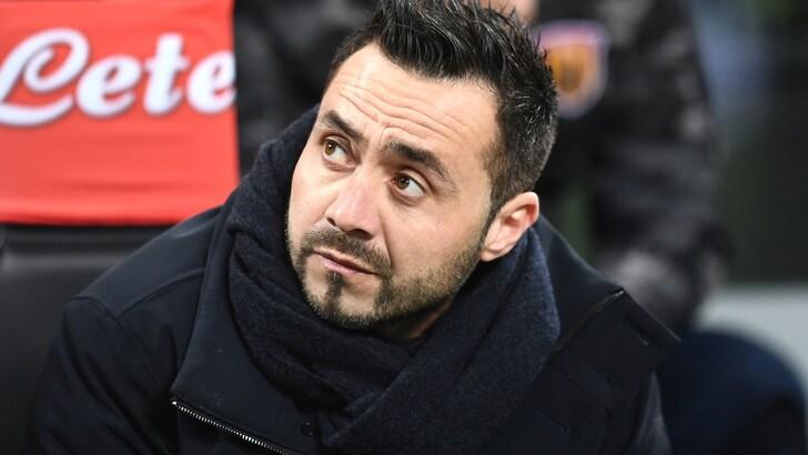 Serie A, De Zerbi deluso: «Benevento penalizzato dalle sviste arbitrali»