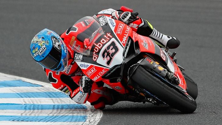 Superbike Australia, Melandri: «Gara durissima, ora me la godo»